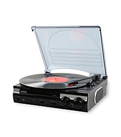 Jensen 3-Speed Stereo Turntable with Built-in Speakers