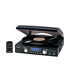 Jensen Digital 3-Speed Stereo Turntable with AM/FM Receiver