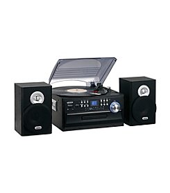 Jensen 3-Speed Stereo Turntable Music System with CD/Cassette Player and AM/FM Radio