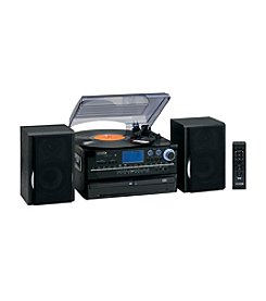 Jensen 3-Speed Stereo Turntable Music System with CD Player and AM/FM Radio