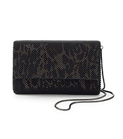 La Regale® Black Leopard Animal Mesh Clutch