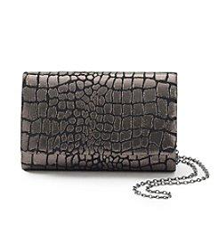 La Regale® Shimmer Croc Clutch
