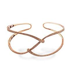 Effy® 1.06 ct. t.w. Diamond Bangle in 14K Rose Gold