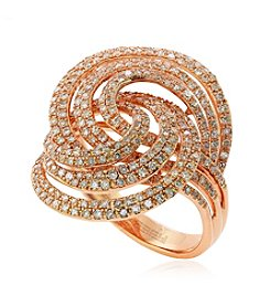 Effy® 1.25 ct. t.w. Diamond Swirl Ring in 14K Rose Gold
