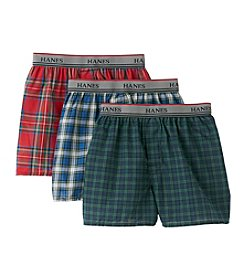 Hanes® Boys' Red/Blue/Green 3-pk. Tartan Boxers