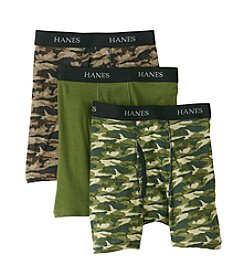 Hanes® Boys' Green Camo 3-pk. Boxer Briefs