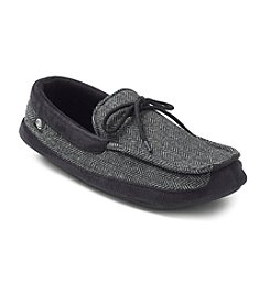 Isotoner® Men's Holiday Herringbone Boater With Mudguard Slipper