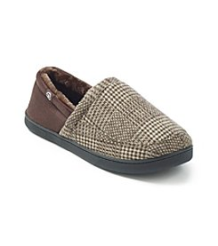 Isotoner® Men's Holiday Plaid A Line Slip On Slipper