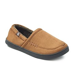 Isotoner® Men's Holiday Microsuede A Line Slip On Slipper