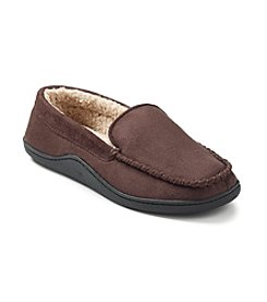 Isotoner® Men's Holiday Microsuede Moccasin Slipper