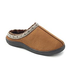 Isotoner® Men's Woodlands Microsuede Hoodback Slipper