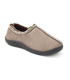Isotoner® Men's Woodlands Microsuede Slip On-Slipper
