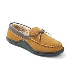 Isotoner® Men's Holiday Genuine Suede Mock Slipper