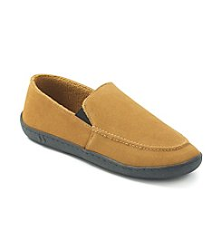 Isotoner® Men's Holiday Genuine Suede Slip-On Slipper