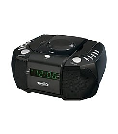 Jensen AM/FM Stereo Dual Alarm Clock Radio with Top Loading CD Player and Digital Tuner