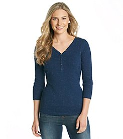 Relativity® Nep Henley Sweater