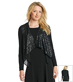 Calvin Klein Sequin Open Shrug