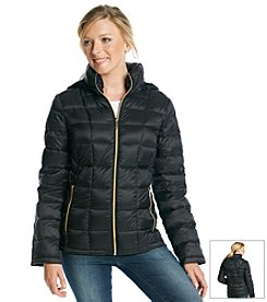 MICHAEL Michael Kors® Zipfront Hooded Packable Down Jacket