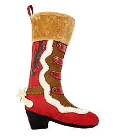 LivingQuarters Western Fur Cuff Boot Stocking