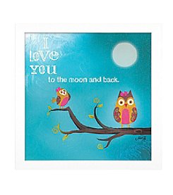 Timeless Frames® I love You To the Moon and Back Framed Art