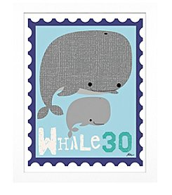 Timeless Frames® Whale Animal Stamp Framed Art
