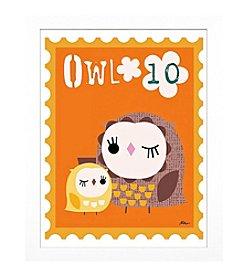 Timeless Frames® Owl Animal Stamp Framed Art