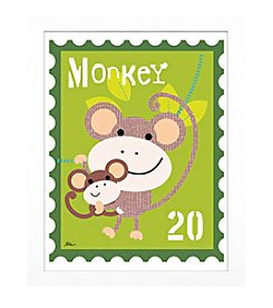 Timeless Frames® Monkey Animal Stamp Framed Art
