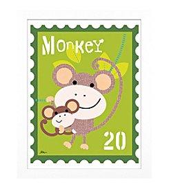 Timeless Frames® Monkey Animal Stamp Framed Art