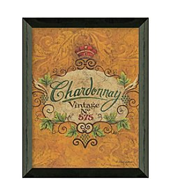 Timeless Frames® Chardonnay Label Framed Art