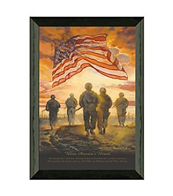 Timeless Frames® Bless Americas Heroes Framed Art