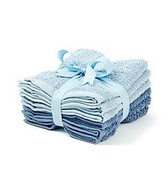 LivingQuarters 6-pk. Tonal Core Blue Washcloths