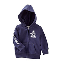 "OshKosh B'Gosh® Baby Girls' Navy ""Awesome"" Zip-Up Hoodie"