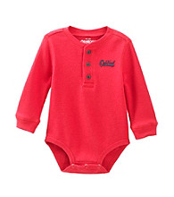 OshKosh B'Gosh® Baby Boys' Red Long Sleeve Thermal Bodysuit