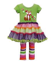 Bonnie Jean® Baby Girls' Green Fox Tutu Leggings Set