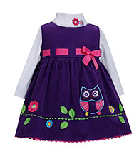 Bonnie Jean® Baby Girls' Purple Cord Owl Jumper