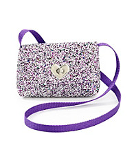 Miss Attitude Purple Glitter Sequin Crossbody