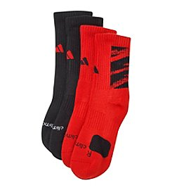 adidas® Boys' Red 2-pk. Crew Socks