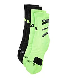 adidas® Boys' Neon Green 2-pk. Camo Crew Socks