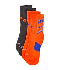 adidas® Boys' Neon Orange 2-pk. Crew Socks