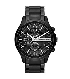 A|X Armani Exchange Black IP Bracelet Watch with Black Dial