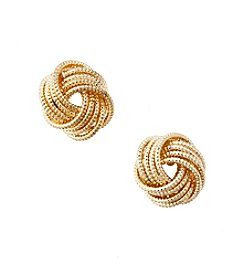 Nine West® Silvertone Mesh Knot Stud Earrings