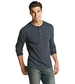 John Bartlett Consensus Men's Thermal Striped Henley