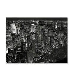 Trademark Fine Art Night Skyline by Chris Bliss Canvas Art