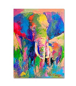 Elephant I by Richard Wallich Canvas Art