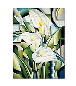 Trademark Fine Art Cubist Lilies by Catherine Abel Canvas Art