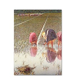 Trademark Fine Art For Eighty Pennies by Angelo Morbelli Canvas Art