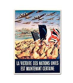 Trademark Fine Art French Propaganda Poster from World War II Canvas Art
