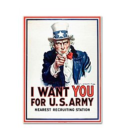 Trademark Fine Art I Want You by James Montgomery Canvas Art