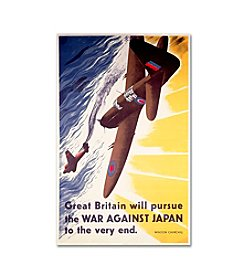 Trademark Fine Art Great Britain Will Pursue War Against Japan Canvas Art