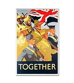 Second World War Together Propaganda Poster Canvas Art